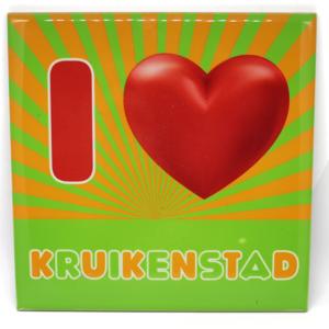 """Tegeltje """"I love Kruikenstad"""" voor de echte kruiken. HB-Creations Tilburg Reeshof"""