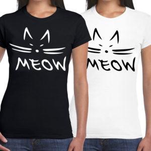 T-shirt MEOW Cat. Modern shirt met leuke opdruk. Ideaal moederdag cadeau. HB-Creations Tilburg Reeshof.