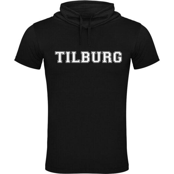 Modern shirt met col en korte mouwen. Bedrukt met de tekst Tilburg. HB-Creations Tilburg Reeshof