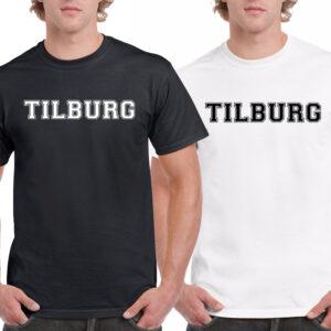 T-shirt zwart of wit met de tekst Tilburg. Leuk vaderdag cadeau. HB-Creations Tilburg Reeshof.
