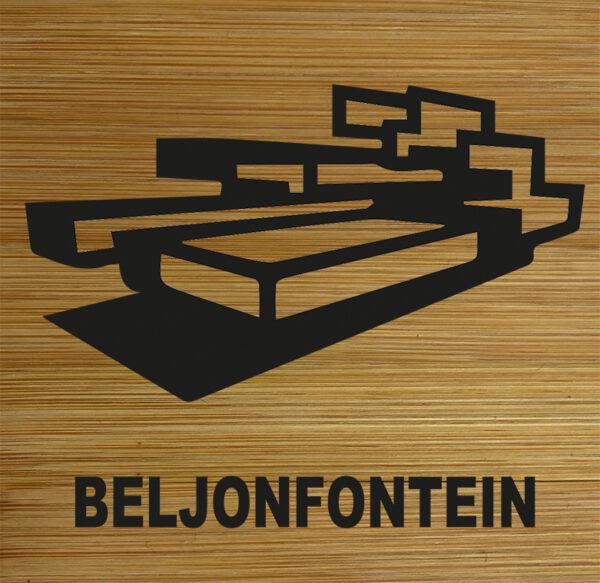 Onderzetter Beljonfontein. HB-Creations Tilburg Reeshof