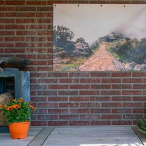 Geef sfeer aan jouw tuin, balkon of dakterras met een eigen ontworpen tuinposter. Kies voor een fraai patroon of een inspirerende afbeelding. Je kunt zelf het formaat kiezen, daardoor kun je hem altijd kwijt op het plekje dat jij voor ogen hebt. Hb-Creations Tilburg Reeshof