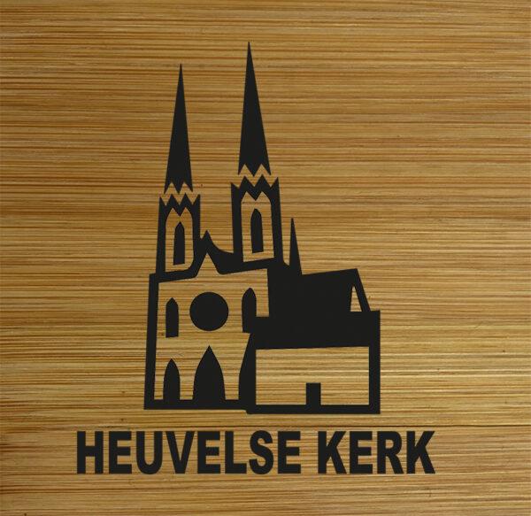 Onderzetter Heuvelse kerk. HB-Creations Tilburg Reeshof