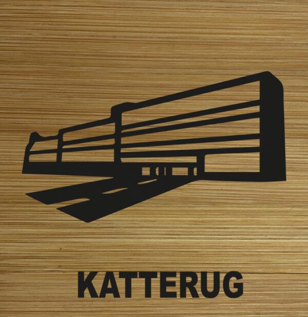 Onderzetter Katterug TilburgsAns Pictogram. HB-Creations Tilburg Reeshof