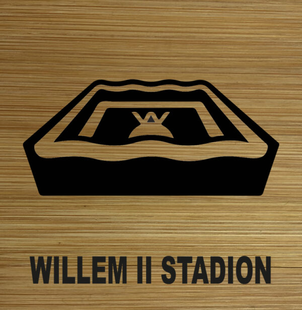 Onderzetter Willem II stadion TilburgsAns Pictogram. HB-Creations Tilburg Reeshof