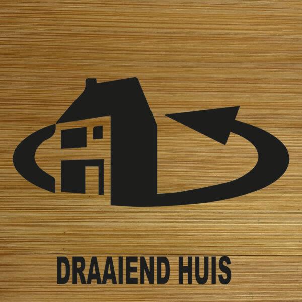 Onderzetter draaiend huis TilburgsAns Pictogram. HB-Creations Tilburg Reeshof