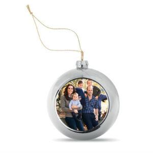 Kerstbal met uw eigen foto of logo. Al mogelijk vanaf 1 stuk. HB-Creations Tilburg Reeshof